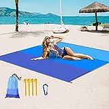 Sandless Beach Blanket, Beach Mat Waterproof Size...
