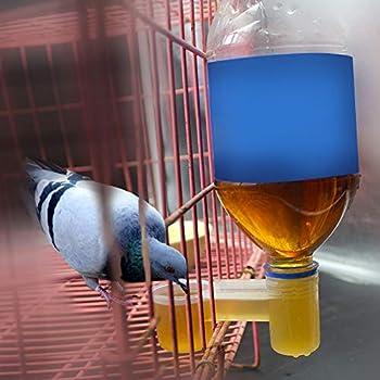 BLLBOO Oiseaux Abreuvoir Tasses-10 PCS Pratique en Plastique Abreuvoir d'eau Tasse Mangeoire Pot À Bols pour Oiseaux Pigeons Perroquets