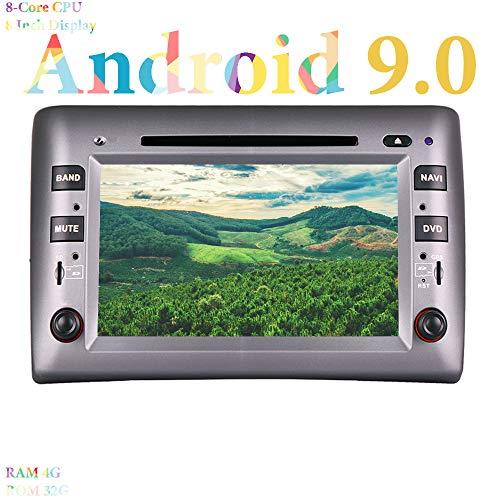 XISEDO 8' Android 9.0 Autoradio 8 Core In-dash Car Radio RAM 4G ROM 32G Navigatore GPS e Lettore DVD per Fiat Stilo (2002-2010) (Autoradio)