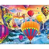 Slibrat DIY Pintura al óleo por números Kit DIY Ángel pájaro Lienzo Dibujo Kits de Pintura para Adultos Globo Pintado a Mano Lienzo Imagen de Arte al óleo