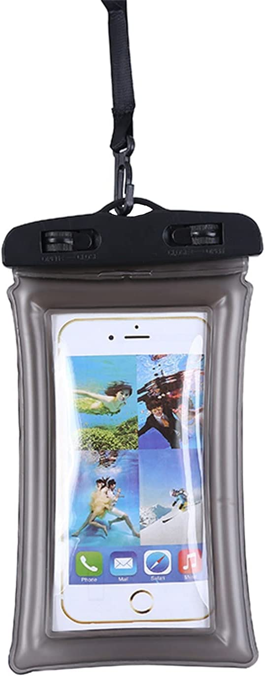 """Floating Waterproof Phone Pouch, TIGERMILLION Universal Waterproof Case Up to 6.5"""", IPX8 Waterproof Phone Holder Compatible for iPhone 12/12 Pro/11/11 Pro/X/XS, Galaxy S9/S10, Google Pixel, LG, Black…"""