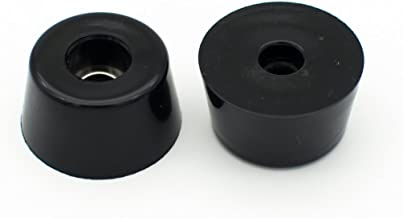 Round Rubber Feet with Stainless Steel Washer Built-in Pack of 10 (D25x20xH13mm)