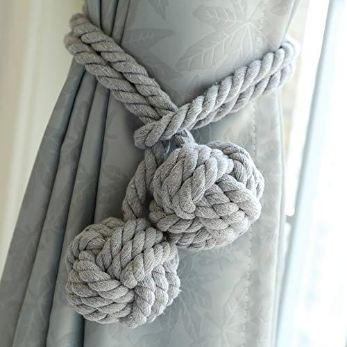 Ein Paar handgemachte Vorhang-Bindebänder, gebundener Vorhang-Klipp-Quasten-Baumwollseil-Bindungs-Ball-Rückseiten-Vorhang-Zusätze