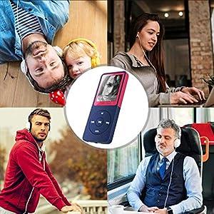 """MP3 Player, Vorstik HiFi Digitales Audio Player 1.8"""" TFT Bildschirm & Lautsprecher 8G SD Karte 64G 50 STD Wiedergabe Sprachaufzeichnung FM Radio Video Recorder E-Book Reader"""