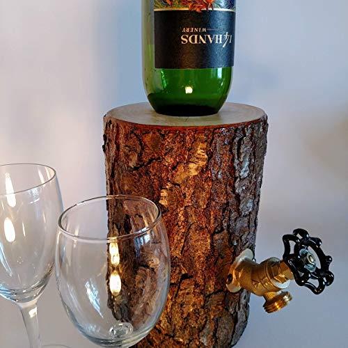 Original Real Wood Log Wine Dispenser
