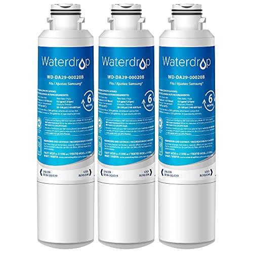 Waterdrop DA29-00020B Refrigerator Water Filter, Replacement for Samsung DA29-00020B, DA29-00020A, HAF-CIN/EXP, 46-9101, Standard, Pack of 3
