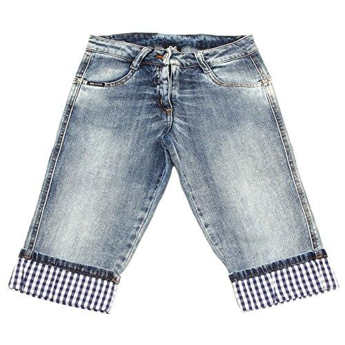 4491S jeans bimbo DOLCE & GABBANA JUNIOR bermuda capri blu denim pant short kid [10 YEARS]