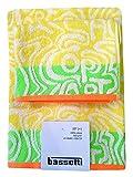 Bassetti Set Spugna Coppia 2 Due Pezzi 1 + 1 Ospite 40 x 60 + Asciugamano 60 x 110 Asciugamani 100% Spugna di Puro Cotone (Op Art Y1)