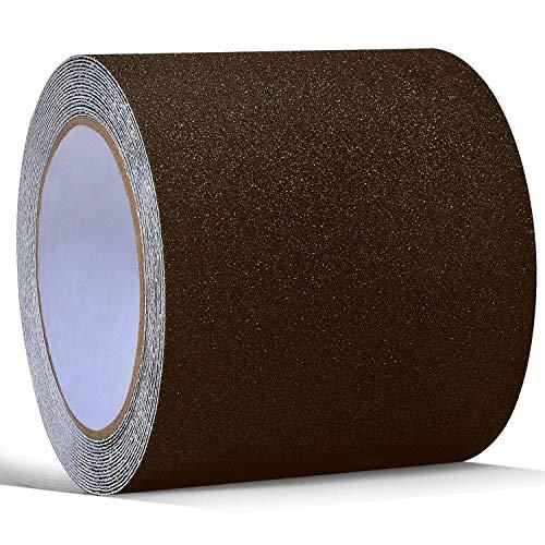 Cinta adhesiva antideslizante marrón High Traction Safety Track Tape, cinta adhesiva antideslizante para escalones, rampas, caminos