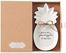 Mud Pie Pineapple Ceramic Trinket Tray With You're The Pineapple Of My Eye
