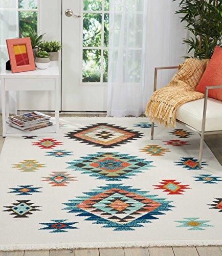 Eine Marke von Amazon - Movian Matevir - Rechteckiger Teppich, 228,6x160cm (L x B), Geometrisches Muster