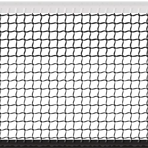 Hit Run Steal Replacement Tennis Net Heavy Duty Tennis Net - Full Sized Professional Regulation 42 Ft Wide Tennis Net with Winch Cable (32 LBS) and New Center Strap