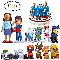 BESLIME Paw Patrol Mini Figure Set, Cup Cake Topper, Feestbenodigdheden Cupcake Cijfers, Party Cake Decoratie...