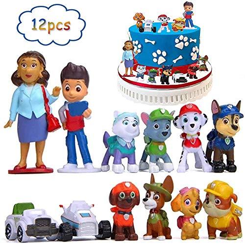 BESLIME Mini juego de figuras, decoración para tartas, suministros para fiestas, figuras para magdalenas, suministros para decoración de tartas, decoración para tartas, 12 piezas