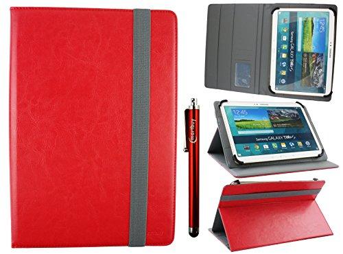 Emartbuy Universal 10-11 Pulgadas Rojo Multi Ángulo