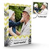 Fotoprix Lienzo Personalizado con Foto para el Abuelo | Regalo Original día del Abuelo | Varios diseños y tamaños (Abuelo, 30 x 40 cms)