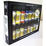 Basic Colors: Acrylic 16 Airbrush Paint Set for Model &...