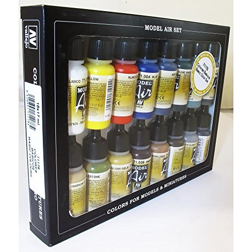 VALLEJO Basic Colors Model Paint Set