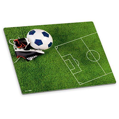 itenga Schreibtischunterlage Fußball Fußballfeld abwischbar rutschfest glatt Kunststoff