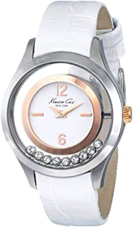 Kenneth Cole Women's White Dial Leather Band Watch - KC2785