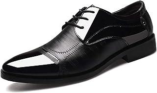bd8773595ee88 Chaussure a Lacet en Cuir d affaire Commercial Habillé de Mariage Basse  Plate Homme Chaussure