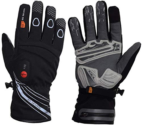 Elektrisch Beheizbare Fahrradhandschuhe > Wasserdicht, Extra Warm - Beheizbare Handschuhe mit Accu - Heizhandschuhe Schwarz