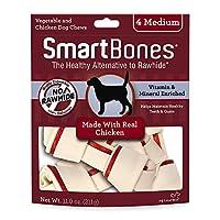 SmartBones Chicken Dog Chew, Medium, 4 pieces/pack, 11 oz by SmartBones