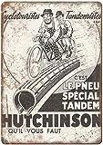 BNIST Hutchinson Fahrrad Straße Vintage Metall Blechschild