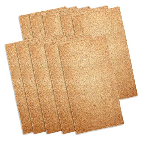 ZYP 10 Pack Jute Plant Grow Mat, 10 x 20 Inches Hydroponic Grow Pads Mats for Microgreens Wheatgrass Sprouts and Organic Production
