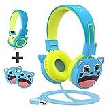 Auriculares para Niños con Protección Auditiva de Volumen de 85dB Limitada, sin Enredos, Auriculares con Cable para Niños Pequeños Bebé
