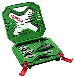 54-Piece X-Line classic drill and screwdriver bit set Fits all power tools and brands All you need for drilling and screwdriving Premium Bosch quality Dimensions (L x W x H): 259 mm x 63 mm x 243 mm