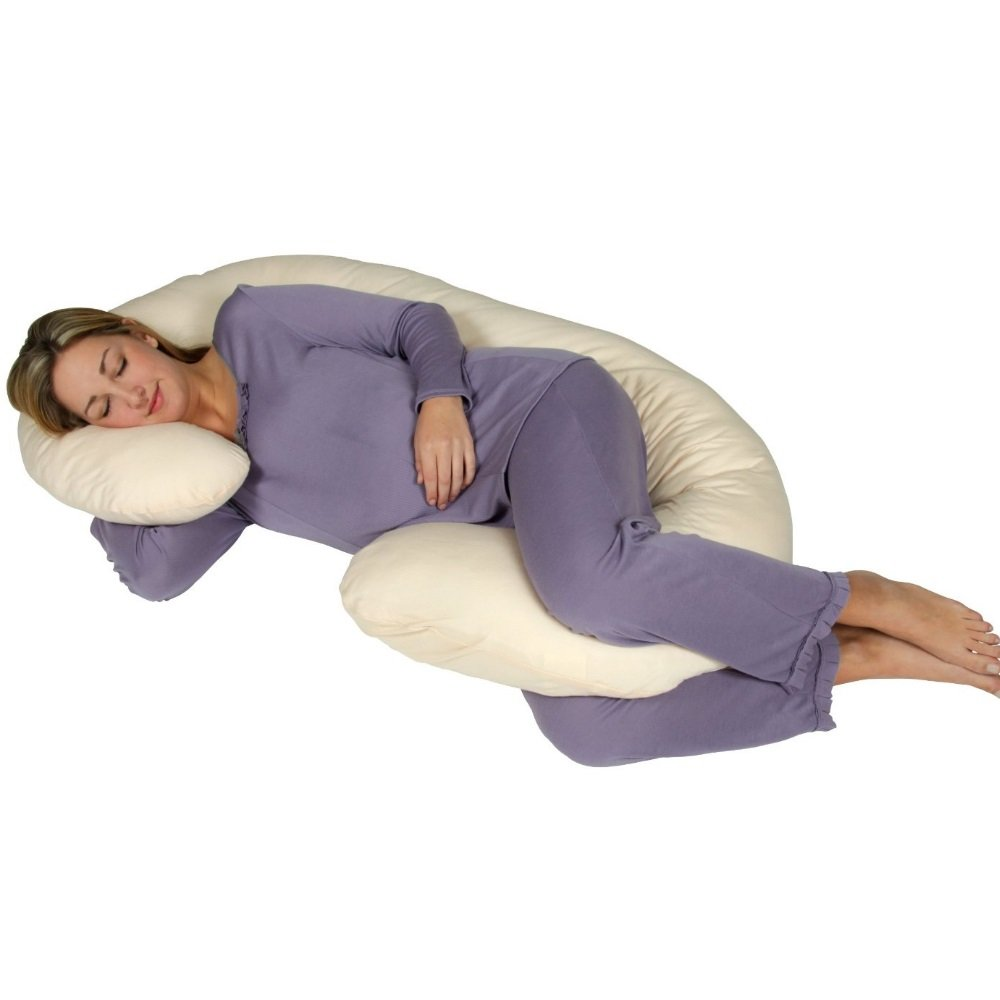 Leachco Snoogle Chic Jersey Body Pillow - Sand
