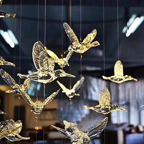 30 Pcs DIY Flying Bird Decorative Ceiling Hanging Ornaments with 148ft Transparent line Christmas Tree for Home Kindergarten Shopping Mall Home Table Window Nature Decoration