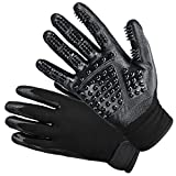 DELOMO Upgraded Pet Grooming Gloves, Deshedding Gloves for Dogs, Cats & Horses, Pet Hair Remover Glove, Hair Glove with Enhanced Five Finger Design, One Pair-Left & Right-Gentle