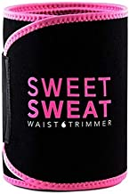 Sweet Sweat Premium Waist Trimmer, for Men & Women Adjustable Straps Abdominal Binder Belly and Breathable Mesh Panels M