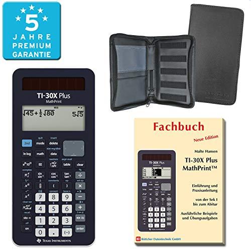 Texas Instruments TI-30 X Plus MP SCHULpaket + Erweiterte Garantie + Schutztasche + Fachbuch : calcumio Artikel Set