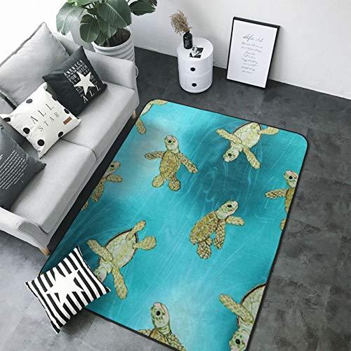 Original Premium Soft Living Room Surf Boys' Terrapin Turtle Area Rug Bedroom Floor Rugs Softest Feeling 60 X 39 Inch Carpet Best Touch Luxury Modern Room Décor
