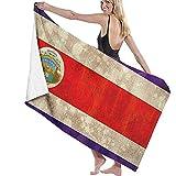 chillChur-DD Bath Towel Asciugamano da bagno Dipinto a Mano Della Bandiera Della Costa Rica,coperta turca dell'asciugamano Della spiaggia messa per Uso Degli Hotel/Motel dei bagni
