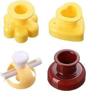 4 Pièces Moule à Beignets, minghaoyuan DIY Cuisson Moule à Beignets en Antiadhésif, sans BPA, Moule à Donuts avec Pince Po...