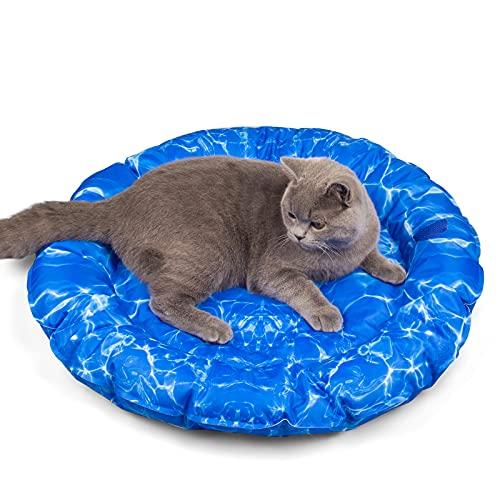 KORIMEFA Cama de enfriamiento para Perros Mascotas Accesorios para Dormir de Verano para Gatos Cachorros Hogar y Viajes (Onda)