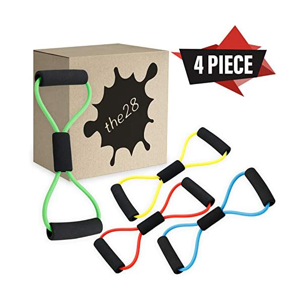 the28 Home Gym Toner Yoga Bands Expander Pulling Stretch Rope 8 Shaped Resistant...