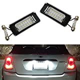iJDMTOY OEM-Fit 3W Full LED License Plate Light Kit Compatible With 2006-14 MINI Cooper Gen2 R56 R57 R58 R59 Powered by 18-SMD Xenon White LED & Can-bus Error Free
