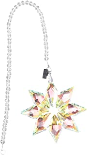 Snowflake Shaped Crystal Car Hanging Pendant Car Ornament Charm Automobile Accessories Hanging Decoration - B (Colorful)