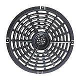 Piatto Crisper Griglia Padella Cucina di casa Friggitrice ad aria tonda antiaderente Lavabile in lavastoviglie con manico Parti di ricambio solide Pentole Cottura Facile da pulire Metallo(20 cm)