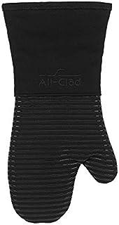 FSST All Clad Textiles Horno de baño resistente a las manchas y al calor DeluxeHecho de silicona Peso pesado tratado 00%Máquina desarga de algodónLavable4 x 6 5 pulgadasNegro @ Pack_Black (un par)