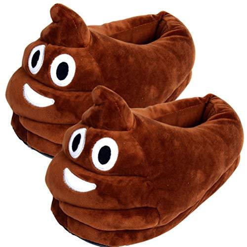 Zapatillas Zapatillas de Felpa Emoji Poo expresión Hombres Mujeres Zapatillas de casa niños Mierda Zapatos de Emoticon de casa cálida