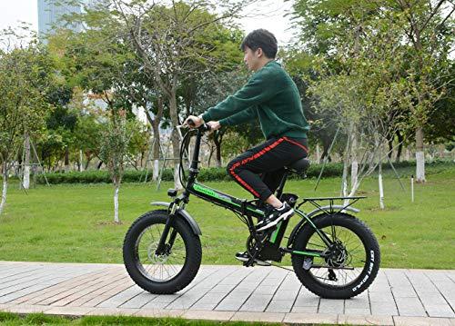 SHENGMILO Vélo Électrique Pliant 20 Pouces Graisse Pneu Pliant Vélo Électrique Plage Neige Vélo ebike 500W Cyclomoteur Électrique Vélos De Montagne Électrique 48V 15Ah Batterie Au Lithium