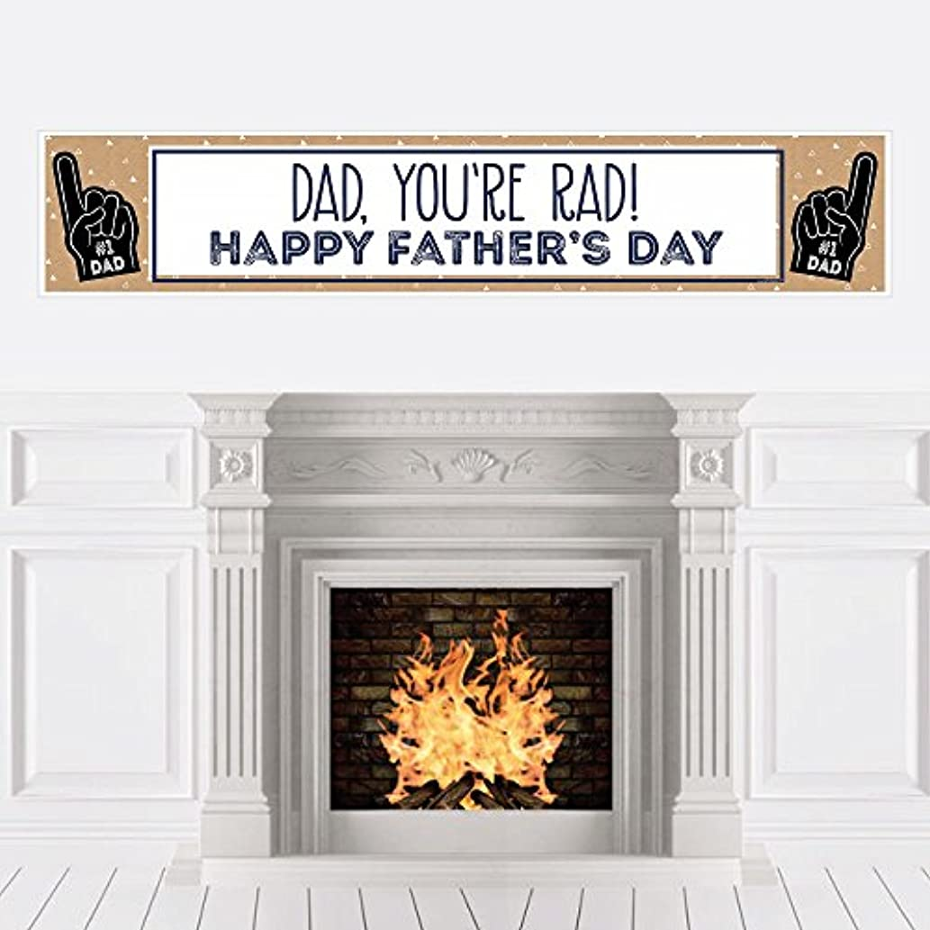 My Dad is Rad - Father's Day Decorations Party Banner