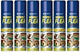 6 PACK - 200ml Flea Spray Home Animal Cats Dogs Kills Fleas Tick
