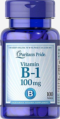 Puritan's Pride Vitamin B-1 100 mg-100 Tablets